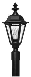 Hinkley 1441BK Traditional Four Light Post Top/ Pier Mount from Manor House collection in Blackfinish,