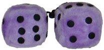 Royal Purple Fuzzy Dice 3