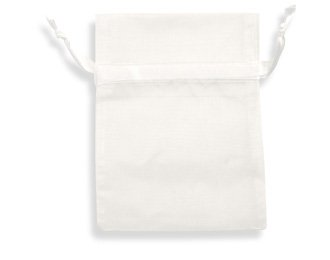 120 Pcs Sheer Organza Drawstring Pouches Gift Bags WHITE Color 3X4 - Amore Candy