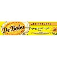 DeBoles Organic Spaghetti Style Artichoke Pasta - 8 Ounces (Pack of 6)