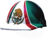 Fibre-Metal by Honeywelll E2RW00A285 Mexican Flag Graphics Brim Safety Hat