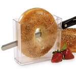 Plastic Bagel Holder with Safety Slicer