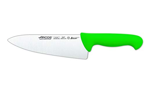 Arcos 290721 - Cuchillo de cocinero, 200 mm, color verde (f.display)