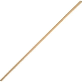 Winware Wooden Broom Handle (Wooden broom heads with plastic support bracket for simple handle replacement)