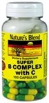 Nature's Blend Super B with C 100 Capsules For Sale