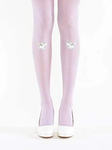 bd38253d511 Amazon.com  Unicorns on Lavender Pantyhose - Semi Opaque Tights ...