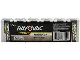 Rayovac 9V Batteries, Ultra Pro Alkaline 9V Cell Batteries (6 Battery Count)