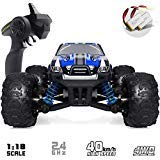VCANNY Remote Control Car, Terrain RC Cars, Electric Remote Control Off Road Monster Truck, 1: 18 Scale 2.4Ghz Radio 4WD Fast 30+ mph RC Car, with 2 Rechargeable - Control Truck Radio