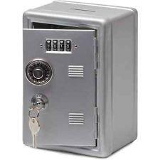 Metal Locker Bank Safe Storage Box Grey by Letterbox