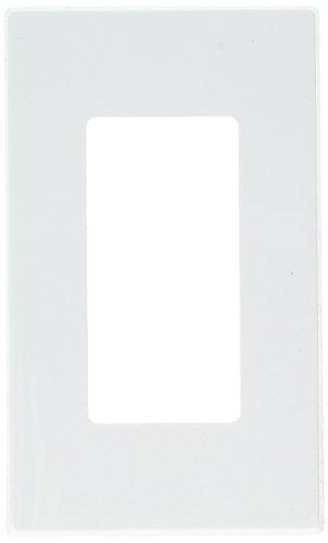 Leviton L92-80301-0SW Decora Screwless 1 Gang Wallplate, White