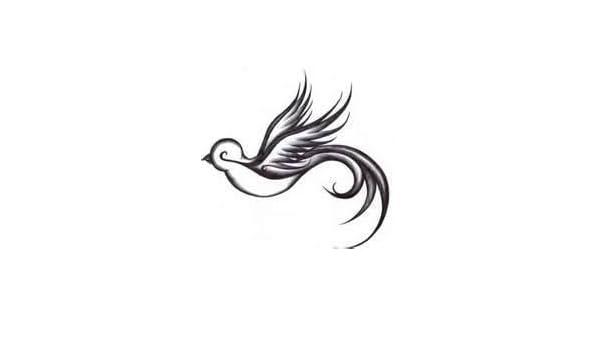Tatuaje tribal de un gorrion, vinilo adhesivo, pegatinas - 50cm ...