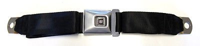 The Parts Place GM Large Deluxe Lap Seat Belt With Brushed Stainless Steel Cover