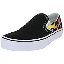 Vans Old Skool Skate Shoe (8 Women/6.5 Men M US, (Flame) Black/Black/True White 7206)