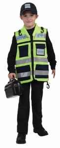 Hatzolah - Vest & Cap Purim Child Costume Size Standard