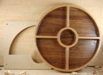 Woodline Bowl and Tray Template Quarter Section w/ Center Bowl by Woodline