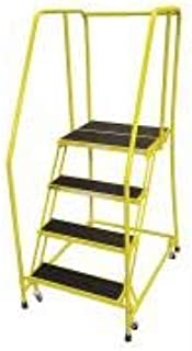 product image for Cotterman 1004R2630A2E20B3C2P6 - Rolling Ladder Steel 70In. H. Yellow