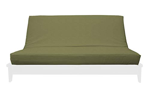 Microsuede Futon Cover - Prestige Furnishings Premium Microsuede Futon Cover w/Zipper - Import Collection - Solid Sage - Handmade in USA - Queen Size (60