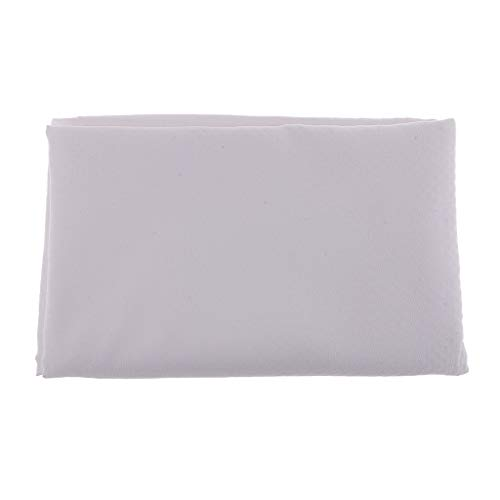 Prettyia 1 Yard Anti-Skid Design Made of Micro Suede Fabric with Rubber Dots Non Skid Fabric Sewing Accessories - White