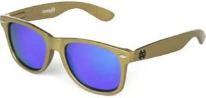 NCAA Notre Dame Fighting Irish ND-2 Gold Frame Gold One Size Blue Lens Sunglasses