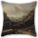 Alphadecor 18 X 18 Inches / 45 By 45 Cm Oil Painting Benjamin Barker - West Country Landscape Cushion Covers ,2 Sides Ornament And Gift To Christmas,indoor,monther,kids - Tiffany Rose Sizing