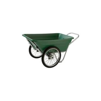 Attractive Garden And Barn Cart, 12 Cubic Foot, Green (400 Pound Capacity, 20