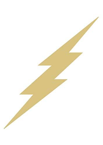 """Lightning Bolt Cutout Unfinished Wood Home Decor Seasonal Decor Thunder Storm Rainy Day Craft MDF Shaped Canvas Style 2 (6"""")"""