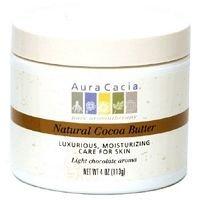 Aura Cacia Natural Cocoa Body Butter, 4 Ounce - 6 per case.