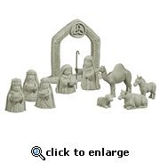 Irish Celtic Nativity Set - 10-Piece Set by Grasslands Road