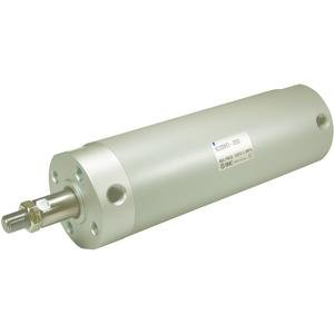 SMC NCDGBN25-0600 Aluminum Air Cylinder, Round Body, Double Acting, Basic Style Mounting, Switch Ready, Rubber Cushion, 1