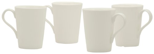 Red Vanilla Pure Vanilla Conical Mugs, Set of 4