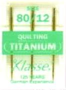 Hemline H106.T | Titanium Med Hi-Strength Machine Quilting Needles 3x 80/12 by Hemline