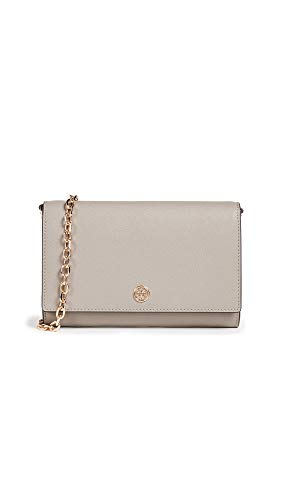 (Tory Burch Women's Robinson Chain Wallet, Grey Heron, One Size)
