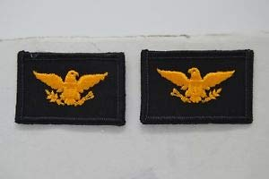 (Fire Dept Police Sheriff Uniform Colonel Gold Eagle Patch COL Chief by HighQ Store)