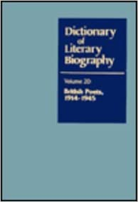 Dictionary of Literary Biography: British Poets, 1914-45 v. 20