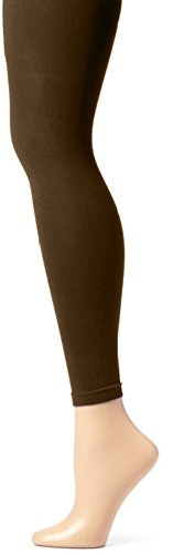 Butterfly Hosiery Girls' Kids Childerns Solid Colored Dance Ballet Custume Seamless Opaque Footless Tights Leggings Stocking Brown 12-14 ()