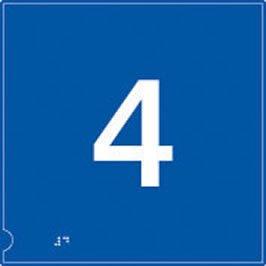 Piso 4 braille ascensor cartel en fondo azul.: Amazon.es ...