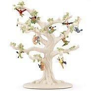 Lenox Garden Bird 10 Piece Ornament Set (Tree not Included) - Lenox Blue Tree