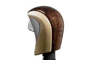 Acura MDX 2010-2012 Wood-grain and Leather Select Knob (Medium Gray) Genuine OEM