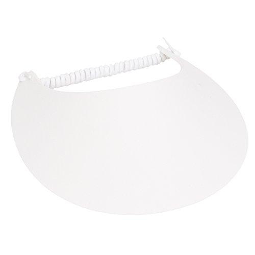 MG Womens Cotton Solid String Sun Visor (White)