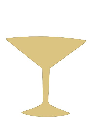 Martini Glass Cutout Unfinished Wood Cocktail Bar Liquor Cosmopolitan Door Hanger MDF Shape Canvas Style 1 ()
