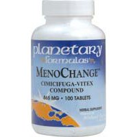 Planetary Herbals MenoChange Cimicifuga-Vitex Compound, 865 mg, Tablets, 100 tablets (Pack of 2) (Cimicifuga Vitex Compound)