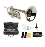 Merano GWD300SV-MT B Flat Trumpet with Case, Mouth Piece, Silver