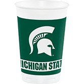 (96 NCAA Michigan State Spartans Plastic Drinking Tailgate Party Cups - 20 Ounces)