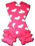 HOT PINK RUFFLES WITH WHITE HEARTS - Baby