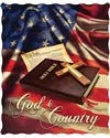 """Greg Giordano """"God & Country Officially Licensed Quilted Throw 50'' X 60'' Size, 1.2 Kg Weight."""