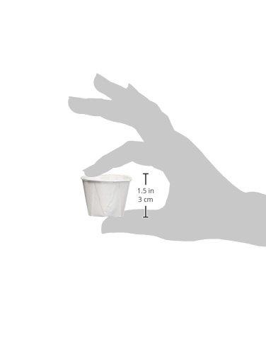 Sauce Pots Condiment Pots Waxed Paper Ramekins Solo Paper Souffl/é Cups 1oz Portion Cups Set of 250