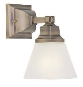 Livex Lighting 1031-01 Mission 1-Light Bath Light, Antique Brass by Livex Lighting