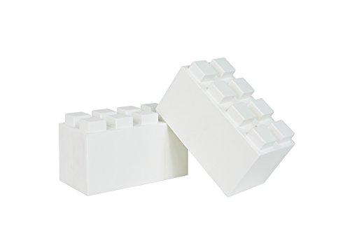 EverBlock Modular Building Blocks - Full Block Bulk Pack, 18 Blocks - White