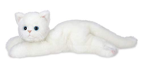 Bearington Muffin Plush Stuffed Animal White Cat, Kitten 15 inches -