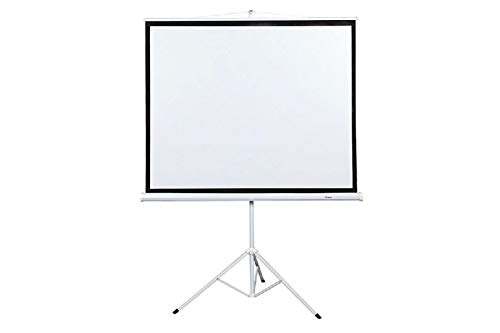 Square Projection Screen Portable 70'' x 70'' Office Projector Stand Diagonal 100